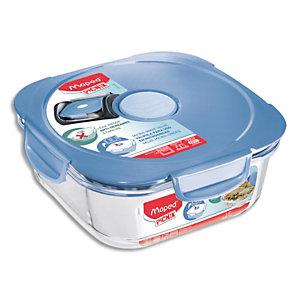 MAPED Boîte à déjeuner Picnik Concept Adulte base en verre borosilicate, couvercle à valve Bleu orage