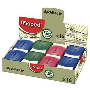 MAPED Gomme Blanche caoutchouc sous étui protecteur ARCHITECTE 010250