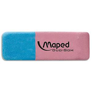 MAPED Gomme pour gommage de l'encre et du crayon DUO-GOM petit modèle