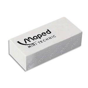 MAPED Gomme mini technic petit modèle avec fourreau pour le crayon, vendue par boîte de 36