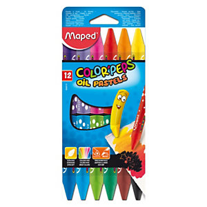 Maped Oil pastel Color Peps Ceras pastel, forma triangular, colores surtidos