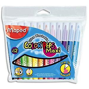MAPED Pochette 12 feutres de coloriage COLOR'PEPS pointe extra large. Coloris assortis