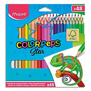 MAPED Pochette 48 crayons de couleur COLOR'PEPS
