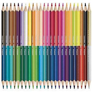 MAPED Pochette cartons de 24 crayons de couleur DUO COLOR'PEPS