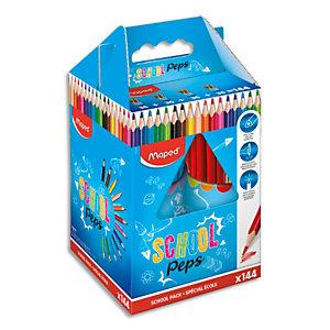MAPED Schoolpack 144 crayons de couleur SchoolPeps assortis