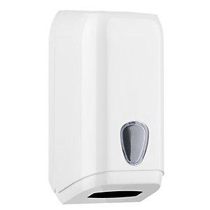MAR PLAST Dispenser di carta igienica in fogli - 15,8x13x30,7 cm - bianco - Mar Plast