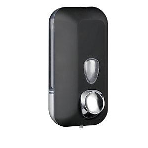 MAR PLAST Dispenser Soft Touch per sapone liquido - 10,2x9x21,6 cm - capacitA' 0,55 L - nero - Mar Plast