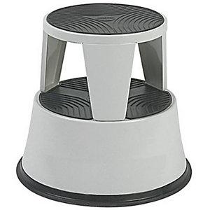 Marchepied tabouret métal gris clair