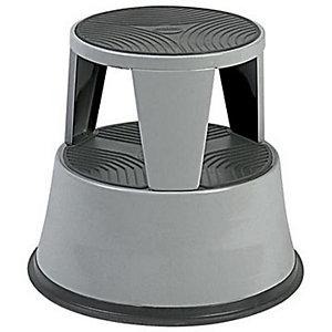 Marchepied tabouret métal gris foncé