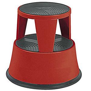 Marchepied tabouret métal rouge