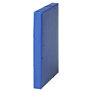 MARIOLA Carpeta de proyectos, Folio, cartón gofrado rugoso, 270 hojas, lomo 30 mm, azul