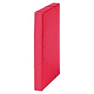 MARIOLA Carpeta de proyectos, Folio, cartón gofrado rugoso, 270 hojas, lomo 30 mm, rojo