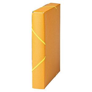MARIOLA Carpeta de proyectos, Folio, cartón gofrado rugoso, 450 hojas, lomo 50 mm, amarillo