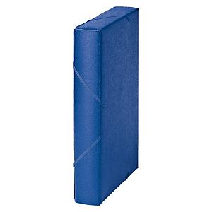 MARIOLA Carpeta de proyectos, Folio, cartón gofrado rugoso, 450 hojas, lomo 50 mm, azul