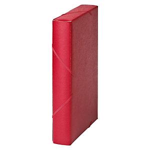 MARIOLA Carpeta de proyectos, Folio, cartón gofrado rugoso, 450 hojas, lomo 50 mm, rojo