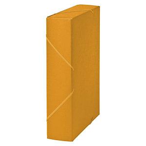 MARIOLA Carpeta de proyectos, Folio, cartón gofrado rugoso, 650 hojas, lomo 70 mm, amarillo