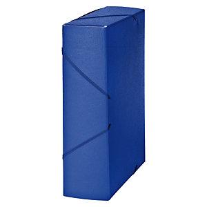 MARIOLA Carpeta de proyectos, Folio, cartón gofrado rugoso, 850 hojas, lomo 90 mm, azul