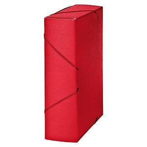 MARIOLA Carpeta de proyectos, Folio, cartón gofrado rugoso, 850 hojas, lomo 90 mm, rojo