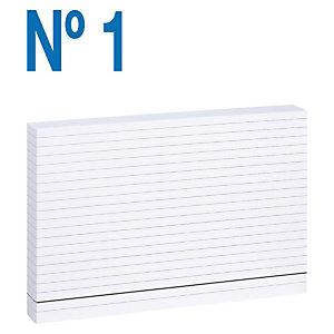 MARIOLA Fichas Nº 1 Cartulina, Rayado horizontal, Blanco, 65 x 95 mm