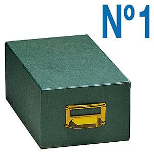 MARIOLA Fichero de cartón verde Nº 1 (120 x 90 x 240 mm)
