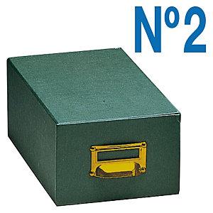 MARIOLA Fichero de cartón verde Nº 2 (160 x 100 x 240 mm.)
