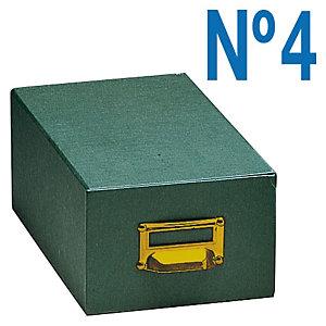 MARIOLA Fichero de cartón verde Nº 4 (220 x 155 x 250 mm)
