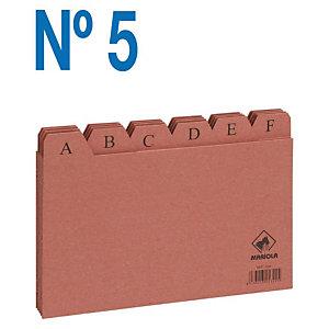 MARIOLA Separadores Fichas Nº 5 Cartulina, Posiciones A-Z, Marrón, 160 x 215 mm