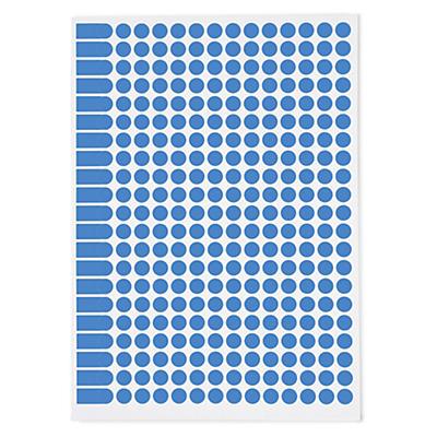 Pastille de couleur adhésif permanent en planche##Markierungspunkte farbig auf DIN A5 Bogen, permanent klebend