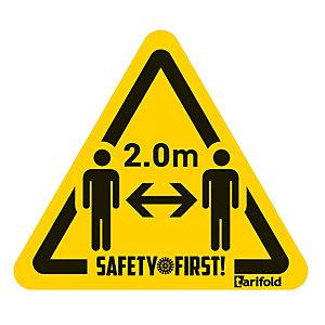 """Marquage au sol autocollant distance sanitaire de sécurité """"respectez la distance"""""""