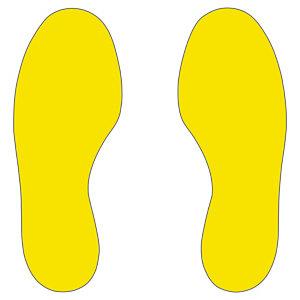 Marquage au sol semelle jaune