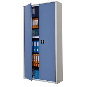 Marque generique Armoire métal Classtout - A portes battantes - H. 198  x  L. 90 cm - Corps Gris - Portes Bleu