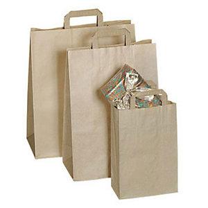Marque generique Carton de 200 sacs kraft brun 32x45x16 cm - 70 g/m2