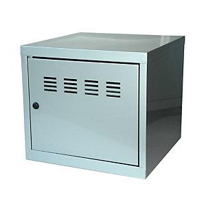 Marque generique Casier de bureau individuel juxtaposable CUBE  - H. 36 cm Alu