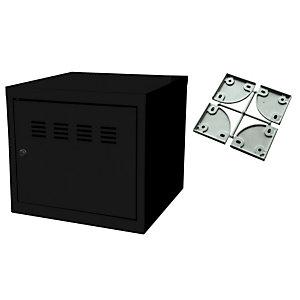 Marque generique Casier de bureau individuel juxtaposable CUBE  - H. 36 cm Noir