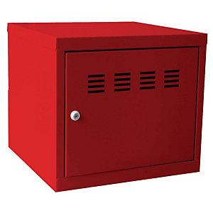 Marque generique Casier de bureau individuel juxtaposable CUBE  - H. 36 cm Rouge