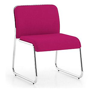 Marque generique Chaise d'accueil Carosello tissu   - Pink