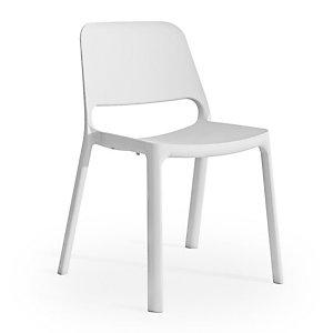 Marque generique Chaise de réunion & visiteur Nuke en Nylon - Blanc (Lot de 4)