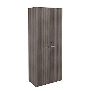 Marque generique Meuble haut NF Environnement portes hautes - H.202 x L. 80 x P. 48 cm - Cèdre - Portes Cèdre