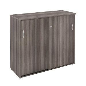 Marque generique Meuble mi-hauteur NF Environnement portes coulissantes - H.104 x L. 120 x P. 48 cm - Cèdre - portes Cèdre