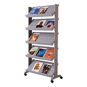 Marque generique Présentoir Large easyDisplays PAPERFLOW - 15 cases - Aluminium