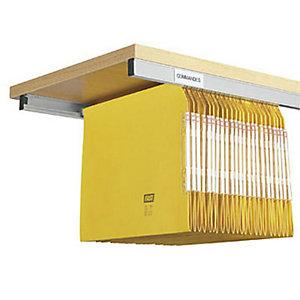 Marque generique Rails pour dossiers suspendus - Largeur 114 cm (Lot de 2)