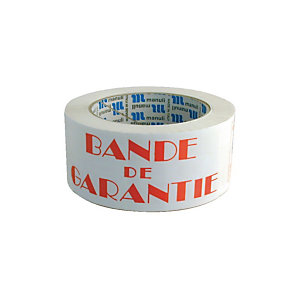 Marque generique Ruban adhésif imprimé : Bande de garantie - 100 m x 50 mm (Lot de 6)