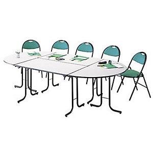 Marque generique Table pliante modulaire 1/4 Rond L. 70 x P. nc cm - Poirier