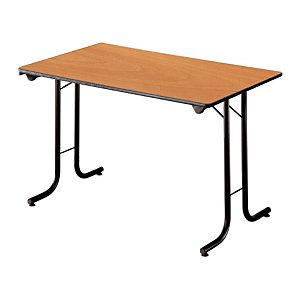 Marque generique Table pliante modulaire Rectangle L. 120 x P. 70 cm - Poirier