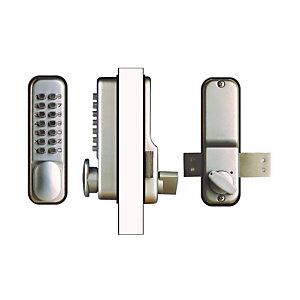 Marque generique Verrou de porte à combinaison mécanique, clavier 14 touches, chromé