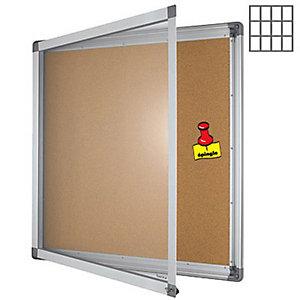 Marque generique Vitrine intérieur cadre aluminium 12 feuilles A4 fond liège