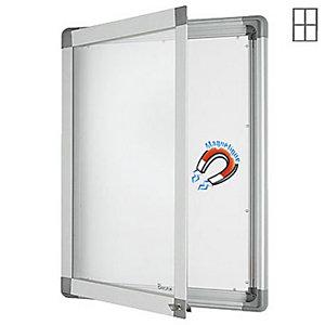 Marque generique Vitrine intérieur cadre aluminium 4 feuilles A4 fond métal