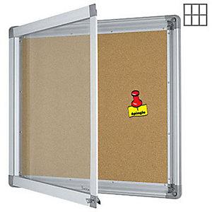 Marque generique Vitrine intérieur cadre aluminium 6 feuilles A4 fond liège