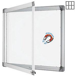 Marque generique Vitrine intérieur cadre aluminium 6 feuilles A4 fond métal