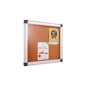 Marque generique Vitrine intérieur cadre aluminium 8 feuilles A4 fond métal magnétique